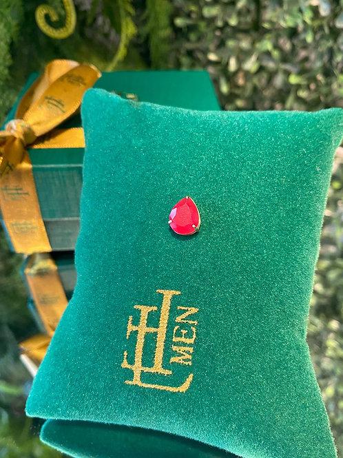 Pingente Gota Jade Vermelha