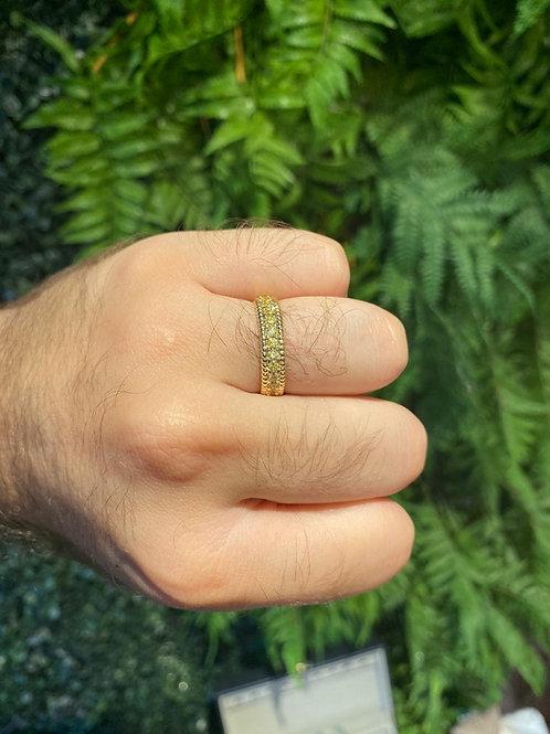 Anel Premium Citrino Dourado