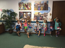 Children playing during Vacation Bible School