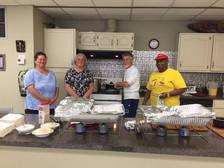 LFUCC congregants prepare breakfast