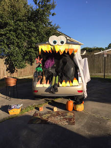 Decorated car during Fall Fest Trunk or Treat