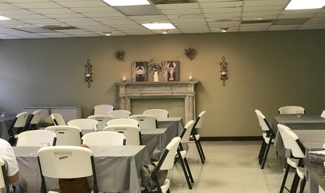 Fellowship Hall _ table set up