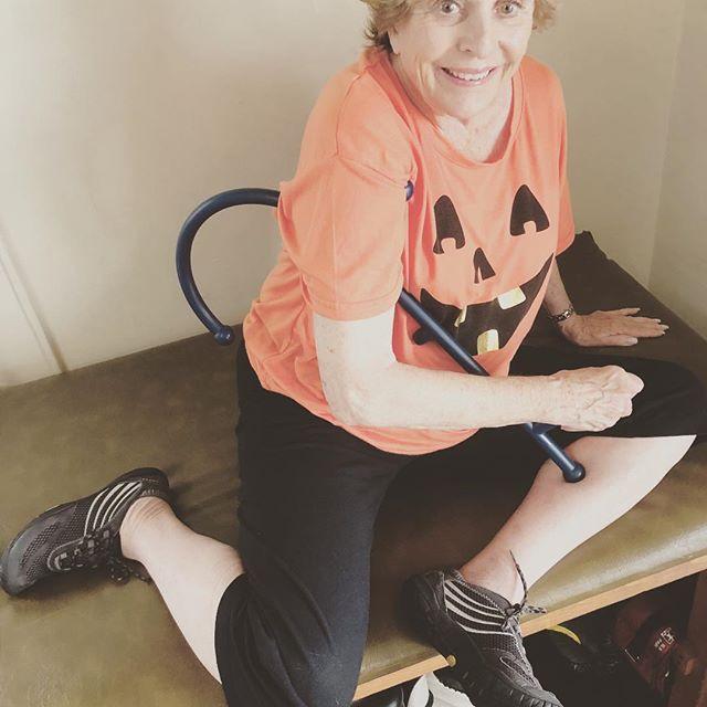Gloria Mae is fashionably flexible this