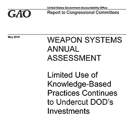 from GAO-19-336SP Weapon Systems Annual