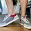Thumbnail: Cole Hahn Grey & Red Sneakers