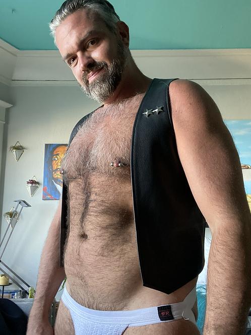 Leather Bar Vest