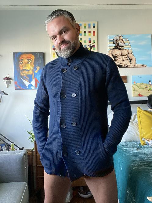 Navy Blue Sweater / Cardigan