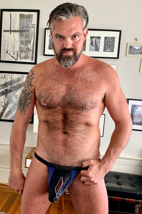 Zippered Blue/Black Jock