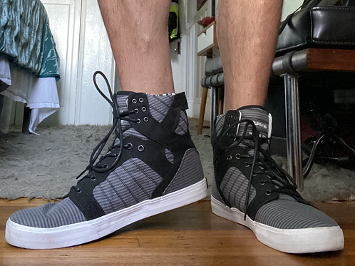 Supra Black & Grey Hi Tops