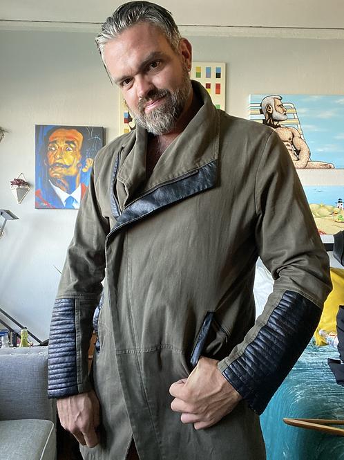 Cool & Edge Cotton/Faux Leather Jacket
