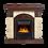 Thumbnail: Портал Torre Classic U (угловой) камень слоновая кость, шпон темный дуб