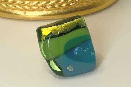 Gold Mountain 2 Glass Tiki Ring