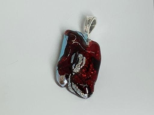 Sangria on Silver Pendant