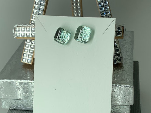 Tiny Tinged-Teal Earrings
