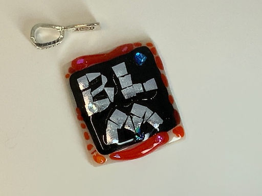 BLM Black on Red Pendant