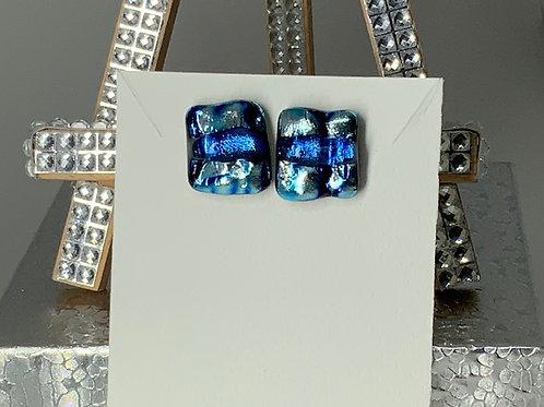 Azure & Light Cerulean Blue Studs