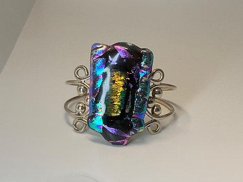 Portal Glass Tiki Jewelry Cuff Bracelet