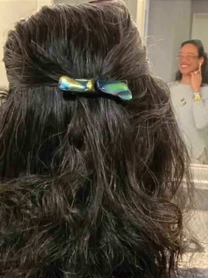Scream Green Rainbow Hair Clip