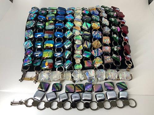 Glass Tiki Jewelry Chain Bracelets