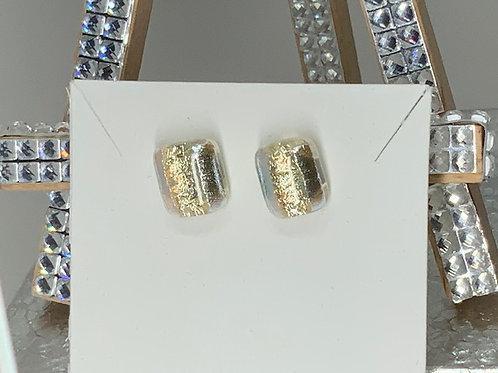 White Gold & Silver Glamor Studs
