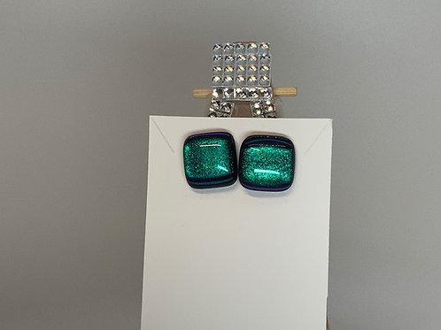 Vibrant Emerald Green Studs