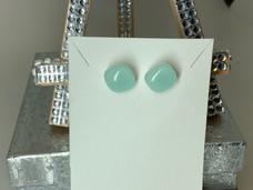 Moon Beam Green Earrings