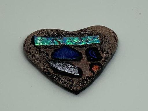 Glass Tiki Face Heart