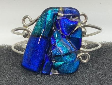 Neon & Sky Blue w Neon on Cyan Crinkle D