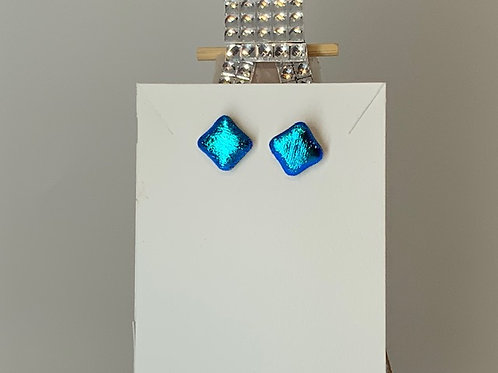 Neon Tiny Hot Blue Studs