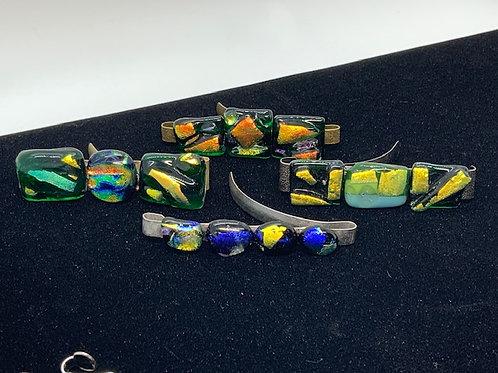 Glass Tiki Jewelry Hair Clips