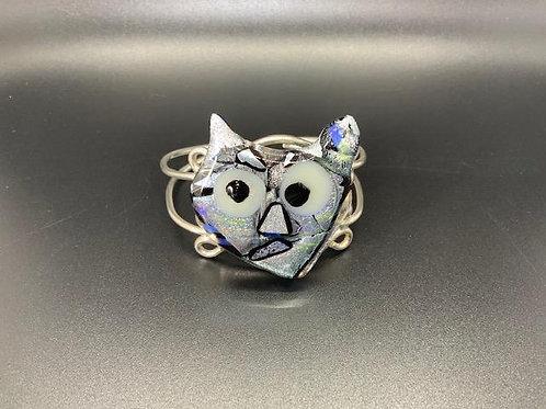 Meow Silver Kitty Bracelet