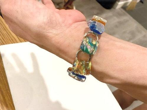Jewel Rainbow on Clear Bracelet