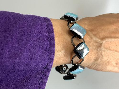 Shocking Silver on Black Bracelet