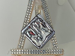 Waterfall on White & Clear Pendant
