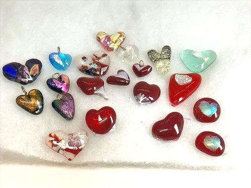 Glass Tiki Jewelry Love Charms assorted