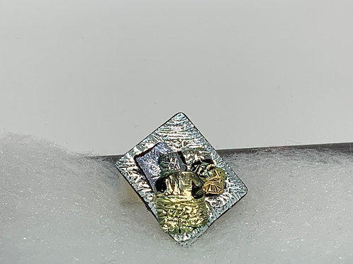 Glimmer of Silver & Gold Ring 6-8