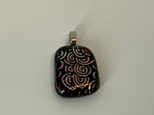 Dichroic Swirls on Black Glass