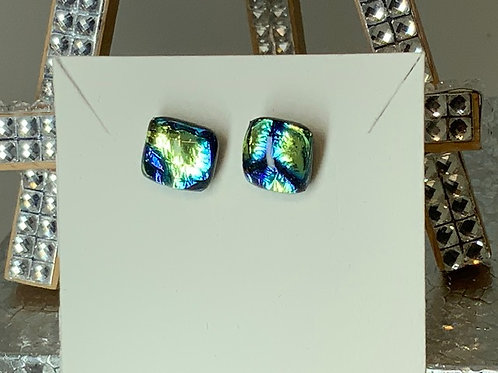 Peace Sign Dichroic Studs