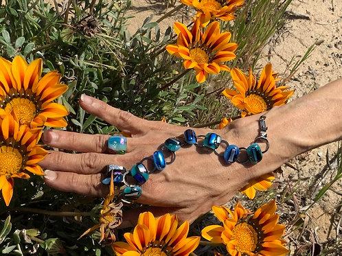 Bracelet Blue Blizzard & Rings