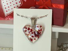 Valentine White Heart Pendant