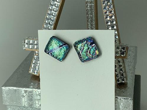 Abalone Indigo Turquoise Studs