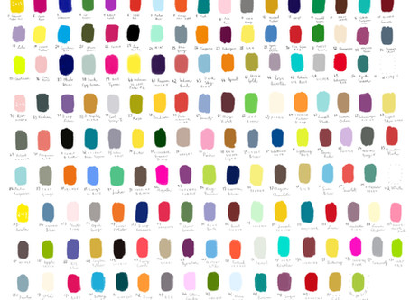 Altogether now. The #colour_collective colours from 2015 to 2017.
