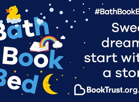 #BathBookBed