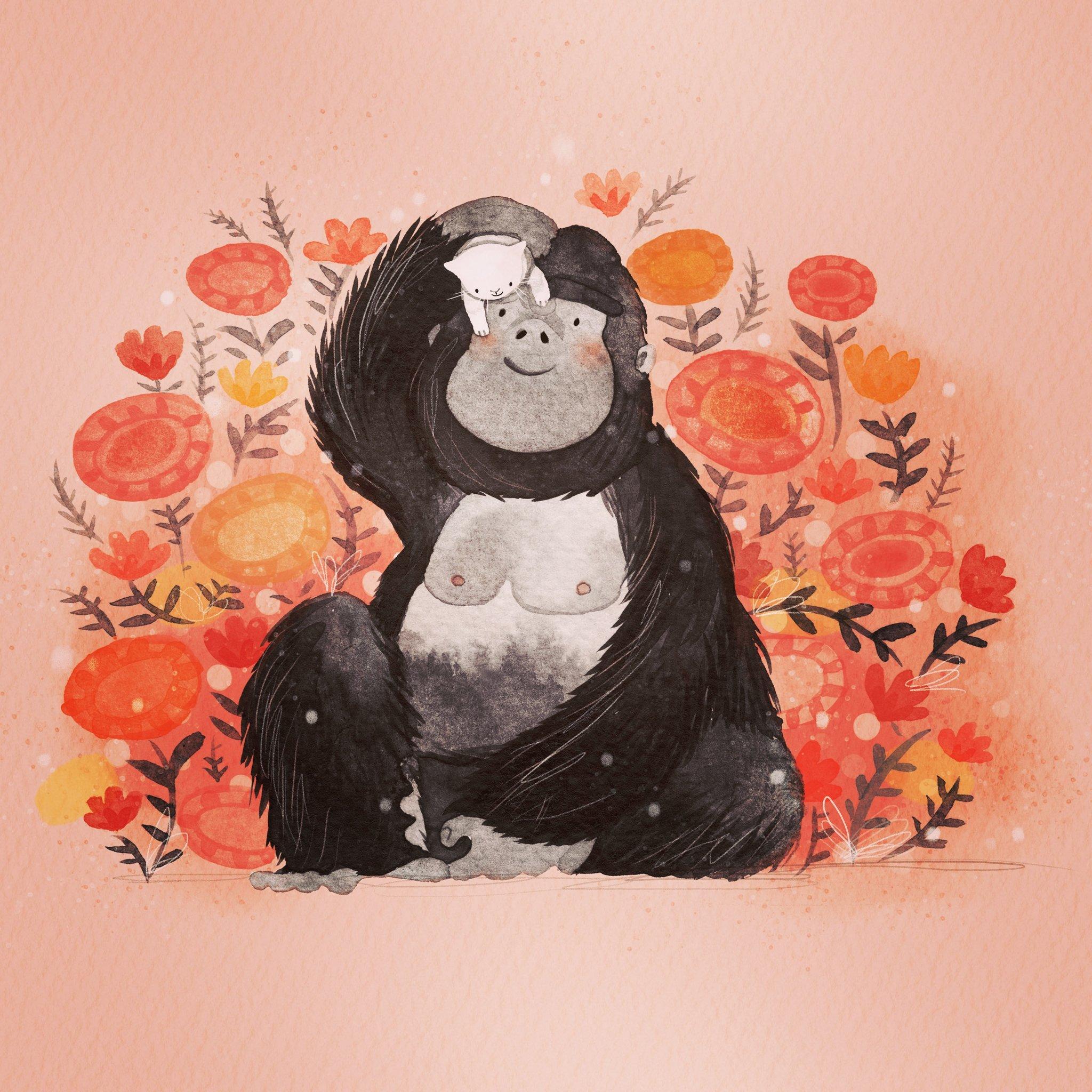 Gorilla & Kitten
