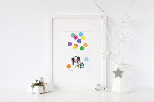A4 Balloons Print