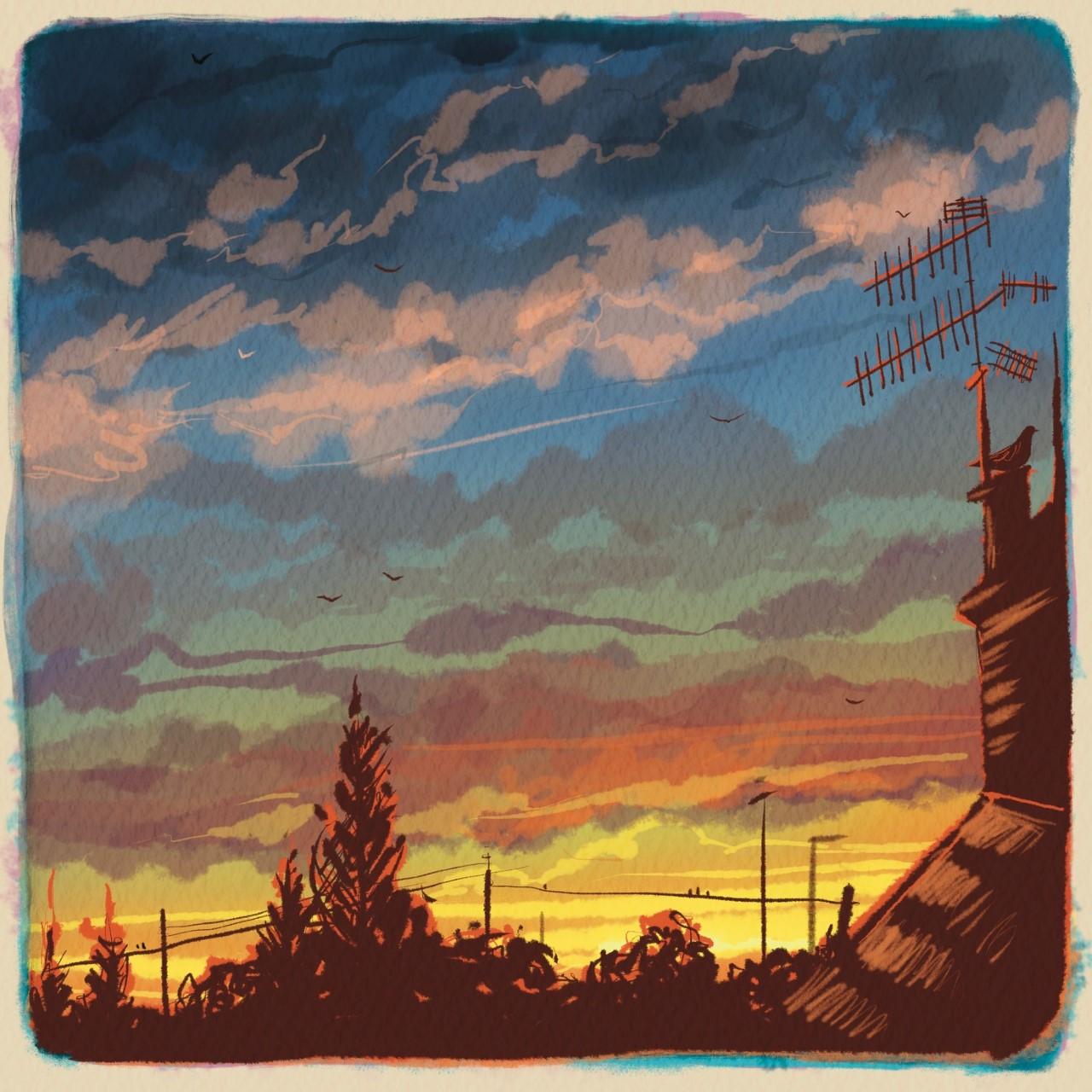 Sunset Aerial