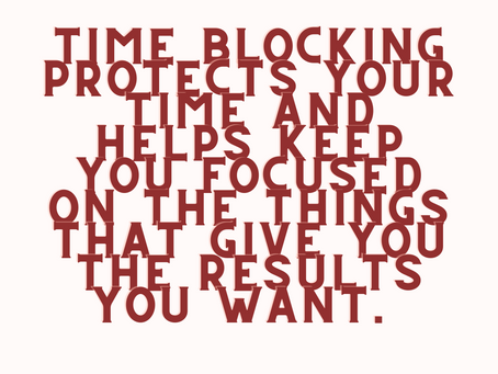 Time Blocking - Step by Step