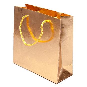 Hayath Hand Made Luxury Golden bag HPB1032 (W8xH10xG2.5 inch) 180GSM