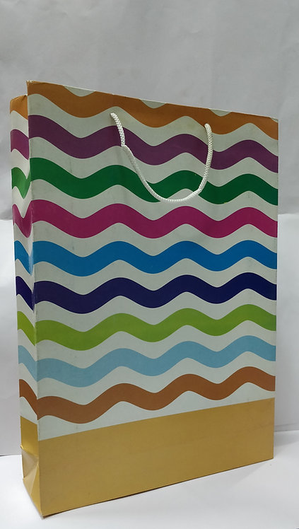 Hayath Laminated Multi Color Waves Bag HPB1010 (10 x 3 x 15 inch )