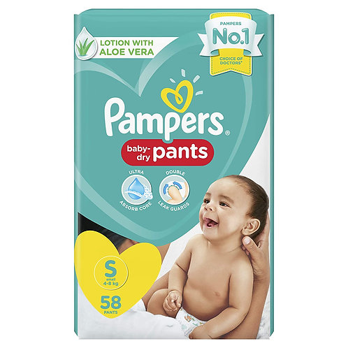 Pampers Diaper Pants, Small, 58 Count